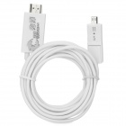 Micro USB 5pin / 11pin Male to HDMI Male Converting Cable for MHL Cellphones + More - White (300cm)