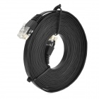 Flat RJ45 Male to Male Network Cable - Black (305cm)