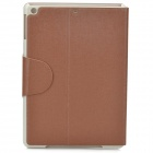 Protective PU Leather Case w/ Card Slot for Ipad AIR - Coffee