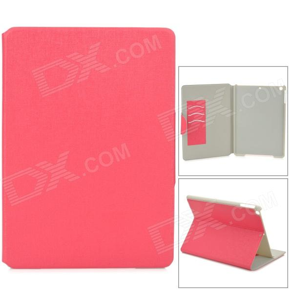 360 Degree Rotation PU Leather Case w/ Auto Sleep for Ipad AIR - Deep Pink protective 360 degree rotation holder pu leather case for samsung p6800 p6810 pink