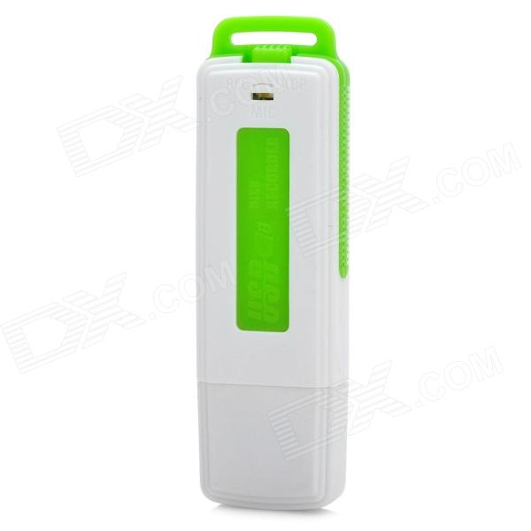 LLYB-UR08-8G-LVSE USB Voice Recorder - White + Green (8GB)