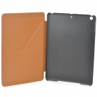 Stylish Folding PU Leather Case w/ Auto Sleep for Ipad AIR - Brown