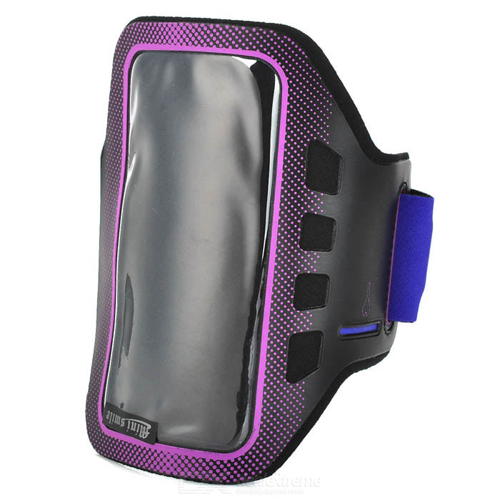 Sports Neoprene Armband for LG Nexus 5 - Black + Purple protective pvc neoprene armband w velcro for lg nexus 5 black grey
