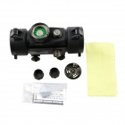 ACCU Aluminum Alloy 1X Magnification 5-Mode Red / Green Light Gun Scope Sight - Black (1 x CR2032)
