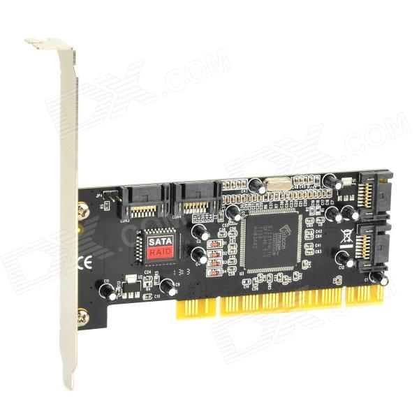 RAID5 SATA PCI Card - Black + Silver (8.0T Max.) kingfast ssd 128gb sata iii 6gb s 2 5 inch solid state drive 7mm internal ssd 128 cache hard disk for laptop disktop