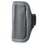 Protective PVC + Neoprene Armband w/ Velcro for LG Nexus 5 - Black + Grey