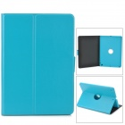 360 Degree Rotation PU Leather Case w/ Auto Sleep for Ipad AIR - Light Blue