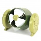 Cannon Style USB Powered 3-Blade 1-Mode Fan - White + Green