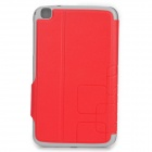 Protective Flip Open PU Leather Case for Samsung Galaxy Tab 3 8.0 (T310/T311) - Red + Grey
