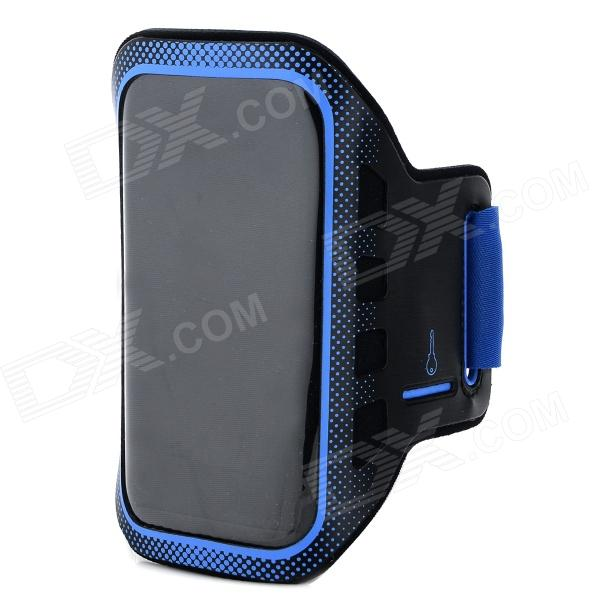 Convenient Sports Velcro Tape PVC + Neoprene Arm Bag for LG Nexus 5 - Black + Blue sunshine sports velcro protective arm bag for samsung galaxy s5 i9600 red black