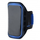 Convenient Sports Velcro Tape PVC + Neoprene Arm Bag for LG Nexus 5 - Black + Blue