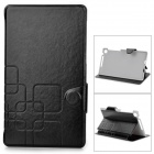 Protective PU Leather Case w/ Stand for Google Nexus 7 II - Black