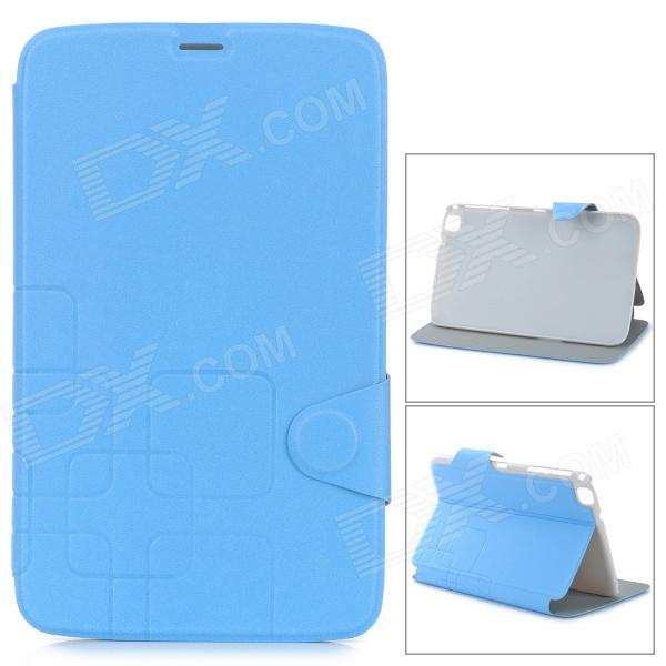 Protective Flip Open PU Leather Case for Samsung Galaxy Tab 3 8.0 (T310/T311) - Sapphire Blue