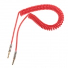 3.5mm Male to Male Stereo Audio Coiled Cable - Red (154cm)