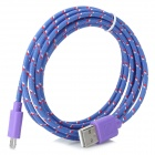 USB 2.0 Data / Charging Cable for Google Nexus 7 II / Nexus 7 - White + Purple + Multicolored (2m)