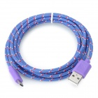 USB 2.0 de datos / cable de carga para Google Nexus 7 II / Nexus 7 - blanco + violeta + Multicolor (2m)