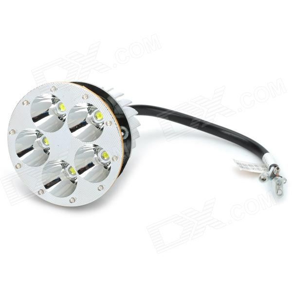 17W 1100lm 7000K 5-LED White Motorcycle Electronic Vehicle Remote / Near Lamp w/ Angle Eye (12V)