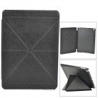 Stylish Folding PU Leather Case w/ Auto Sleep for Ipad AIR - Black