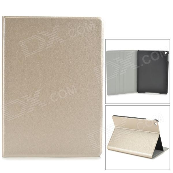 Fashion Silk Texture PU Leather Case for Ipad AIR - Champagne Gold