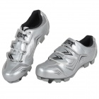 JAD SPO-108 Bicycle Breathable PU Shoes - Silver (Size 40)