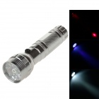 80lm 6000K 16-LED White + Blue + Red Flashlight - Silver + Black (3 x AAA)