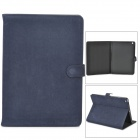Schutz Flip Open PU-Leder Fall w / Auto-Sleep für iPad Air - Deep Blue