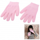 Moisturize Soften Repair Whiten Skin Moisturizing Treatment Gel Spa Gloves - Pink (2 PCS)