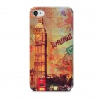 Big Ben Pattern Protective Plastic Back Case for Iphone 4 / 4s - Red + Multicolored