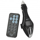 "1.0"" LCD Car MP3 Player w / FM / TF / USB + Controle Remoto - Preto + Prata"