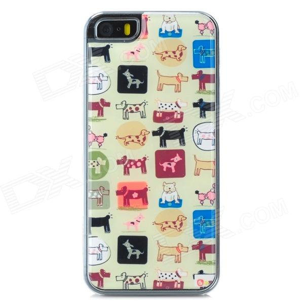 все цены на Animals Pattern Protective Epoxy Back Case for Iphone 5 / 5s - White + Brown + Multicolored онлайн