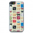 Animals Pattern Protective Epoxy Back Case for Iphone 5 / 5s - White + Brown + Multicolored