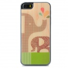 Elephant Pattern Protective Epoxy Back Case for Iphone 5 / 5s - Buff