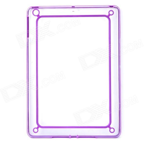 Protective ABS + Silikon Auto Frame für iPad Air - Purple + Transparent