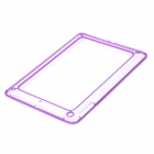Protective ABS + Silicone Bumper Frame for Ipad AIR - Purple + Transparent