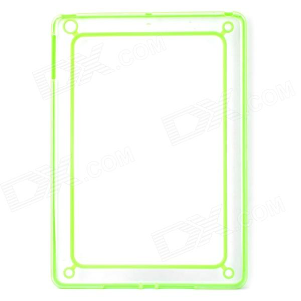 Protective ABS + Silicone Bumper Frame for Ipad AIR - Light Green + Transparent