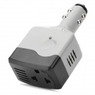 A109 75W 12~24V to 220V Car Cigarette Lighter Inverter w/ 1-Outlet Socket - Black + Grey