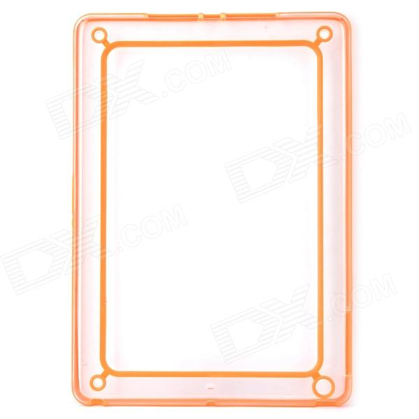 protective abs silicone bumper frame for ipad air orange transparent