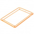 Protective ABS + Silicone Bumper Frame for Ipad AIR - Orange + Transparent