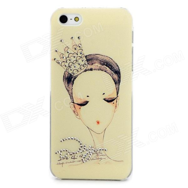 SN-01 Girl Pattern Protective PVC Back Case for Iphone 5 - Black + Silver + Multi-Colored проводной и dect телефон us 6896