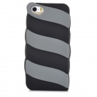 Cute Marshmallow Style Silicone Back Case for Iphone 5 / 5s - Black + Grey