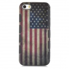 A-556 Retro Stylish UK Flag Pattern 2-in-1 Plastic Back Case for Iphone 5 / 5s - Multicolored