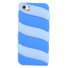 Cute Marshmallow Style Silicone Back Case for Iphone 5 / 5s - Light Blue + Deep Blue