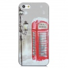 Retro Telephone Booth Pattern PC Back Case for Iphone 5 - Multicolored