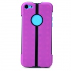 S-What 2-in-1 Protective TPU + PC Back Case for Iphone 5C - Purple + Black