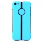 S-What 2-in-1 Protective TPU + PC Back Case for Iphone 5C - Blue + Black