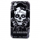 Skull Pattern Protective Plastic Back Case for Iphone 4 / Iphone 4S - Black + White