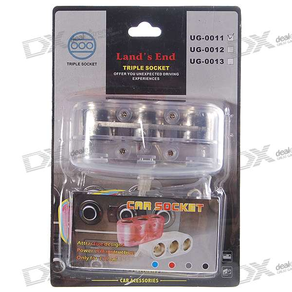 1-to-3 Cigarette Lighter Power Spliter (DC 12V/24V)