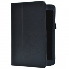 Lichee Pattern Protective PU Leather Case Cover Stand for Retina Ipad MINI - Black