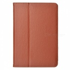 Lichee Pattern Protective PU Leather Case Cover Stand for Retina Ipad MINI - Brown
