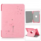 High-heel Style Diamante Protective PU Leather Case Cover Stand for Retina Ipad MINI - Pink